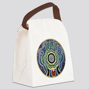 Earth Blessing Mandala Canvas Lunch Bag