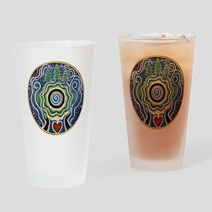 Earth Blessing Mandala Drinking Glass