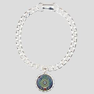 Earth Blessing Mandala Charm Bracelet, One Charm