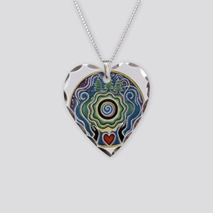 Earth Blessing Mandala Necklace Heart Charm