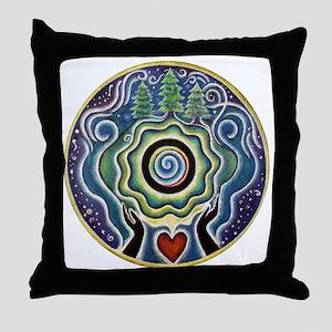 Earth Blessing Mandala Throw Pillow