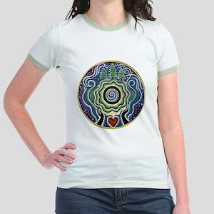 Earth Blessing Mandala Jr. Ringer T-Shirt
