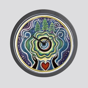 Earth Blessing Mandala Wall Clock