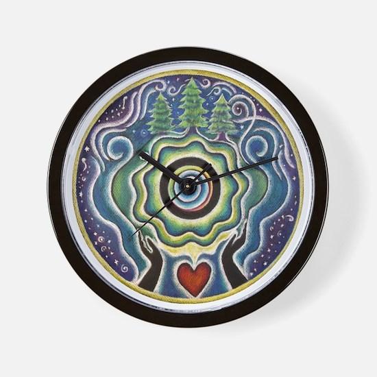 Earth Blessing Mandala Wall Clock