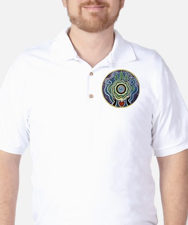 Earth Blessing Mandala Golf Shirt