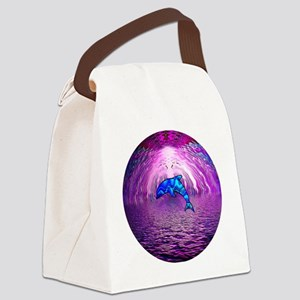 DOLPHYtextredfor shirt Canvas Lunch Bag
