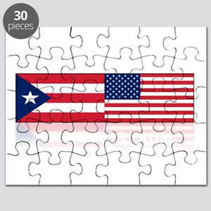 made in puerto rico(blk) Puzzle