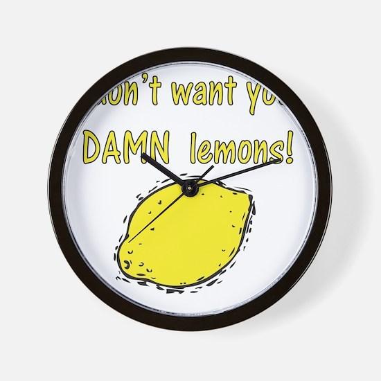 Damn Lemons Wall Clock