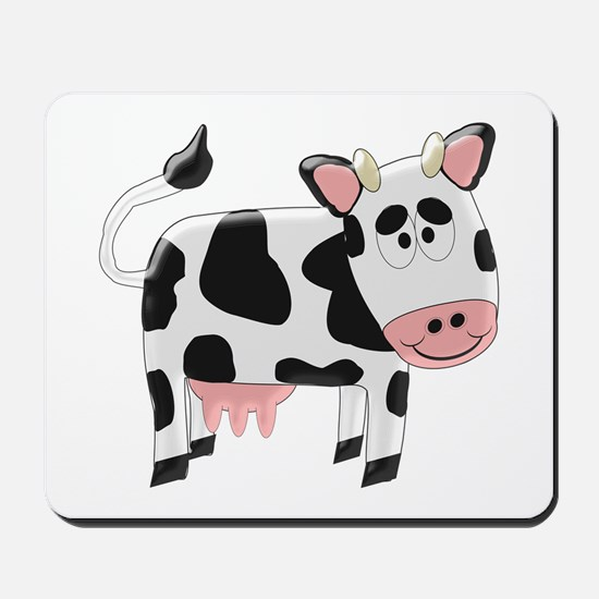 Black And White Cow Mousepad