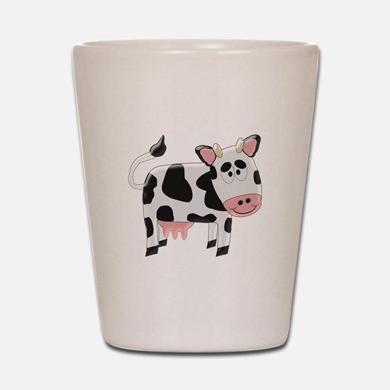 Black And White Cow Shot Glass