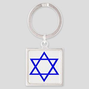Star of David II Square Keychain