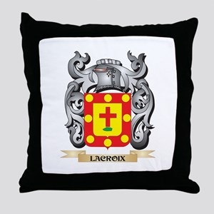 Lacroix Coat of Arms - Family Crest Throw Pillow