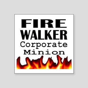 "Fire Walker Corporate Square Sticker 3"" x 3"""