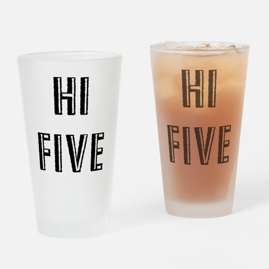 Hi Five Drinking Glass