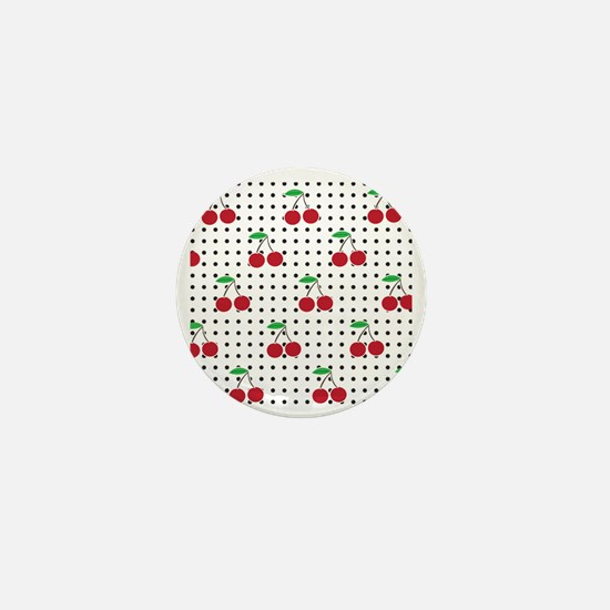 cherry square Mini Button