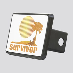 Survivor_Sunset_1 Rectangular Hitch Cover