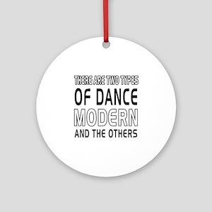 Modern Dance Designs Ornament (Round)