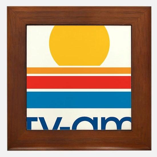 tvam logo Framed Tile