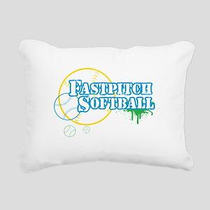 Fastpitch-01 Rectangular Canvas Pillow