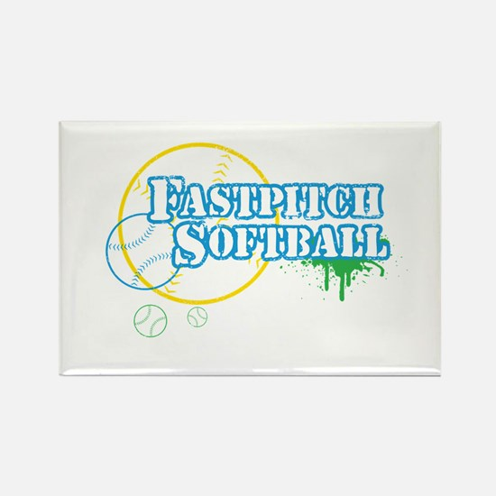 Fastpitch-01 Rectangle Magnet