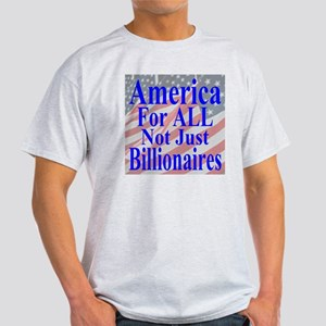 America for ALL 35  Flags  Light T-Shirt