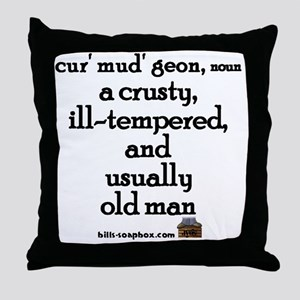Curmudgeon large Throw Pillow