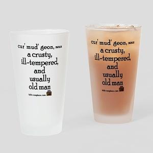 Curmudgeon Drinking Glass