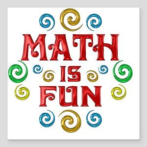 "math Square Car Magnet 3"" x 3"""
