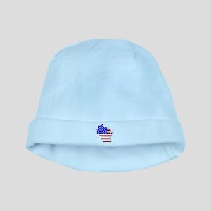 Wisconsin Flag baby hat