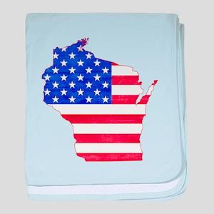 Wisconsin Flag baby blanket