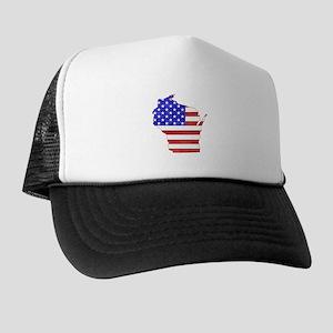 ff6c8ba698ad9 Flag Milwaukee Trucker Hats - CafePress