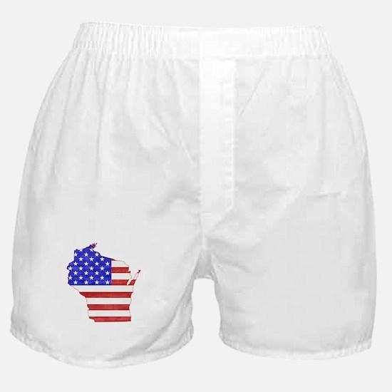 Wisconsin Flag Boxer Shorts