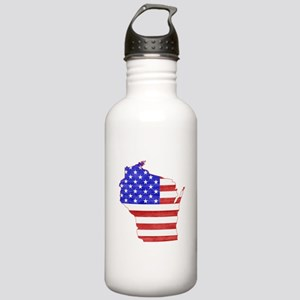 Wisconsin Flag Stainless Water Bottle 1.0L