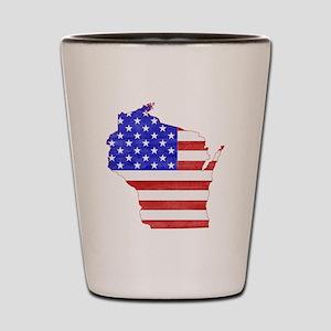 Wisconsin Flag Shot Glass