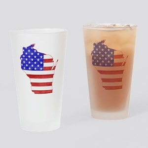 Wisconsin Flag Drinking Glass