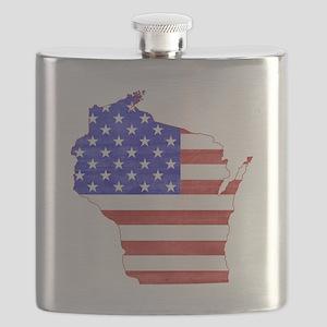 Wisconsin Flag Flask