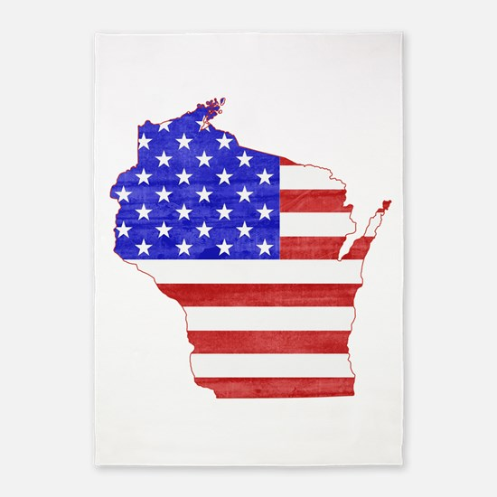 Wisconsin Flag 5'x7'Area Rug