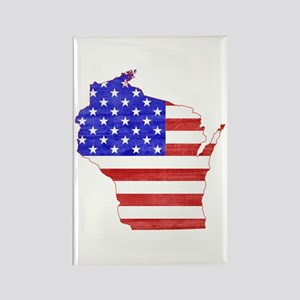 Wisconsin Flag Rectangle Magnet