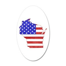 Wisconsin Flag Wall Decal