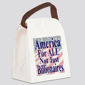 America for ALL 35 dk bl  Flags Canvas Lunch Bag