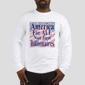 America for ALL 35 dk bl  Flag Long Sleeve T-Shirt