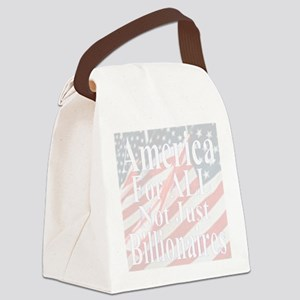 America for ALL  20-w Flags Canvas Lunch Bag