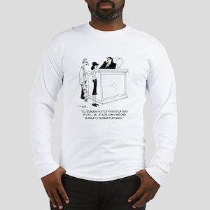 Divorce Cartoon 6485 Long Sleeve T-Shirt