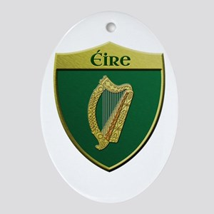 Ireland Metallic Shield Ornament (Oval)