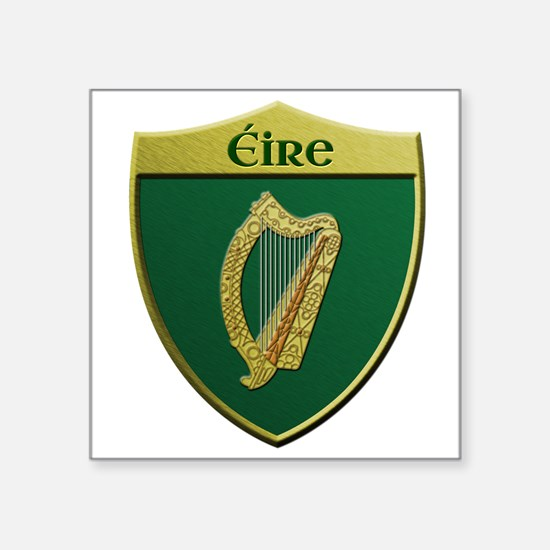 Ireland Metallic Shield Sticker