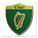 Ireland Metallic Shield Square Car Magnet 3