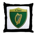Ireland Metallic Shield Throw Pillow