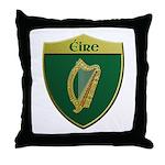 Ireland Metallic Shield Throw Pillow
