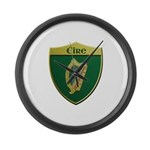 Ireland Metallic Shield Large Wall Clock