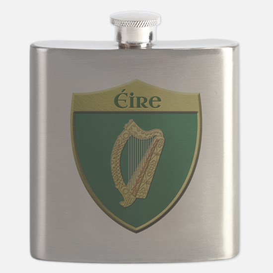 Ireland Metallic Shield Flask